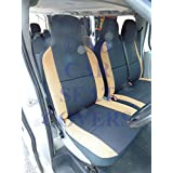 VW Transporter T4Van fundas de asiento accesorio de negro + tan suede Trim–S + D