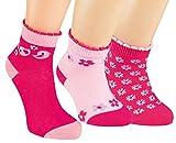 Vitasox 21146 Kurzschaft Socken Baumwolle Mädchen Kindersocken Söckchen Blumen-Motiv Sneakersocken