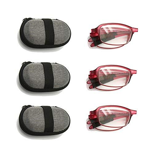 39d3ddcdc0 EnzoDate Paquete de 3 pares de gafas de lectura plegables plegables con.