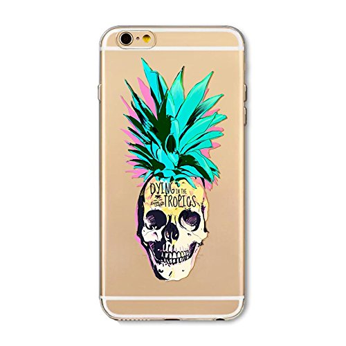 "CoqueiPhone 6S Etui Housse,BoomTeck Coque Pour 4.7"" Apple iPhone 6S/iPhone 6 Silicone Souple Transparente Motif Clear Ultra Mince Anti Choc Anti-rayures Gel TPU Etui Protection Bumper Case - Fruits P 06"