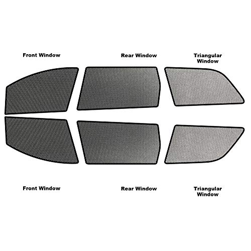 RUIYA Autofenster Sonnenschirm Angepasst für 2014-2018 Grand Cherokee,Premium Auto Sun Shade für vollen UV-Schutz (6 Stücke)