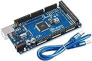 ELEGOO MEGA 2560 R3 Board ATmega2560 ATMEGA16U2 + USB Cable RoHS Compliant(Arduino-Compatible)