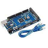 Elegoo Mega 2560 R3 Board ATmega2560 ATMEGA16U2 + Cavo USB Compatibile con Arduino Blue