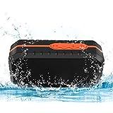 Fetta Tragbarer Wasserdichter Bluetooth Lautsprecher Speaker Boombox mit 1800mAh Batterie für iPhone, iPad, Samsung, Nexus, HTC und andere Android Geräte