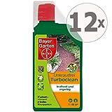 Bayer Gardopia Sparpaket: 12 x 1 Liter Garten Unkrautfrei Turboclean Unkrautvernichter Totalherbizid + Gardopia Zeckenzange mit Lupe