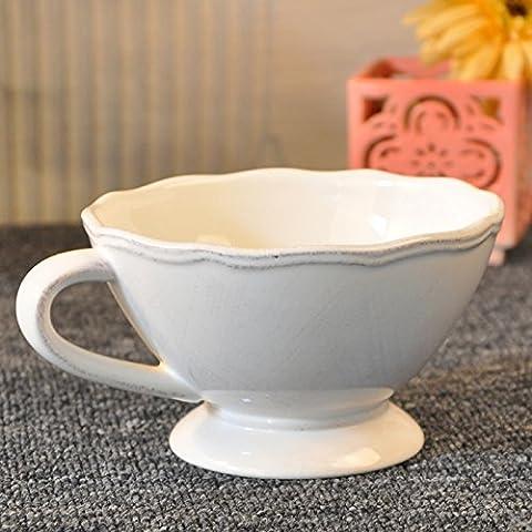 Yifom Empuñadura de cerámica tazones de sopa de postre tazón Tazón de desayuno
