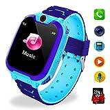 Bambini Game Smartwatch- Music Orologio Smart Phone con SIM Card Camera 7 tipi di giochi Touch Screen Learning Giocattoli Regali di Ragazzi e Ragazze Compleanno -Include scheda SD da 1 GB, Blu