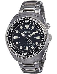 Seiko Herren-Armbanduhr XL Kinetic Diver Chronograph Quarz Edelstahl SUN019P1