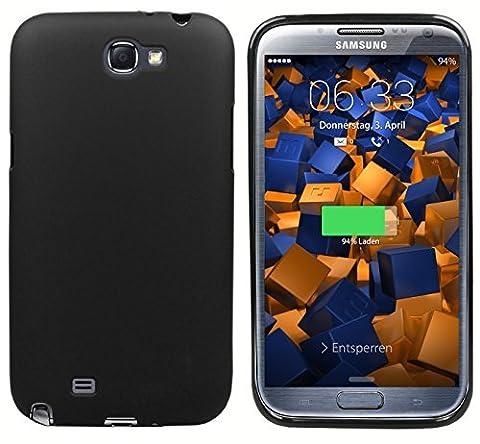 mumbi TPU Skin Case für Samsung Galaxy Note 2 N7100 Silikon Tasche Hülle - Silicon Protector Schutzhülle schwarz