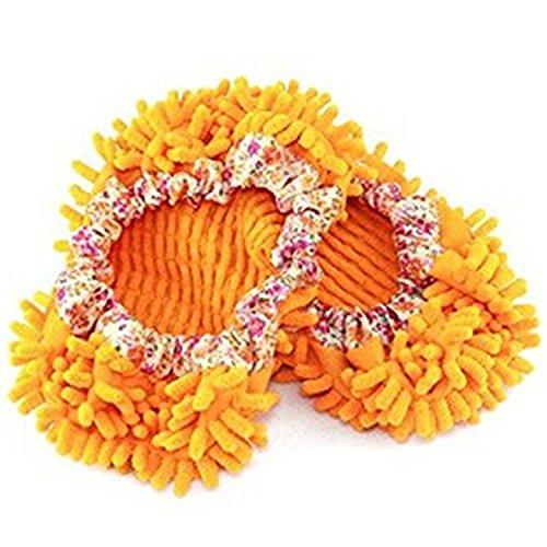 fashionbabies-cute-polvo-mop-zapatillas-zapatos-de-comodo-piso-limpiador-naranja-talla-unica