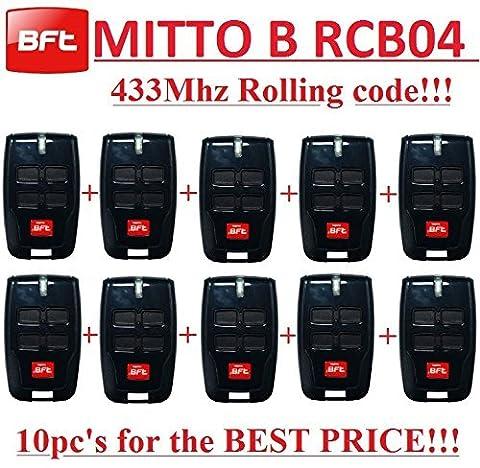 Telecommande Bft 02 - 10 X BFT MITTO B RCB04 R1