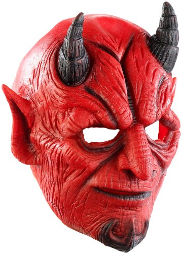 infactory Maske: Teufelsmaske aus Latex-Gummi mit beweglichem Mund (Maske für Party, Halloween, Fasnacht, Karneval, (Halloween Teufel Masken)