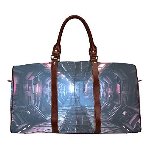 Reisetasche Magical Amazing Space Corridor wasserdichte Weekender-Tasche Reisetasche Damen-Einkaufstasche Mit Mikrofaser-Leder-Gepäcktasche -
