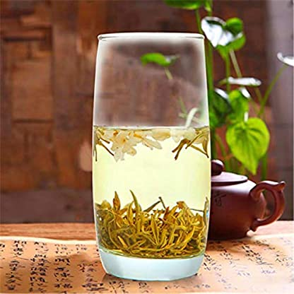 Vorfrhlings-Grn-Tee-mit-Jasminblumentee-Mao-Feng-Huangshan-Maofeng-50g-011LB-Jasmintee-fraganance-Tee-Chinesischer-Tee-Jasmin-blht-Tee-duftenden-Tee