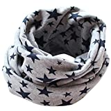 San Bodhi® Stars pattern Kids Cotton Neckerchief baby Boy Girl Scarves Shawl Winter warm Knitting Neck Scarf