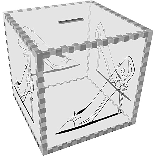 Azeeda Grande 'Zapatilla Cristal' Caja Dinero / Hucha