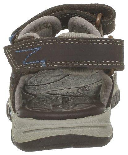 Timberland Boys Ek Lthr Trailsndl Sandals Brown Braun  Dark Brown With Blue  Size  21