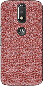 The Racoon Pink Crazy Waves hard plastic printed back Case for Motorola Moto G Plus 4th Gen