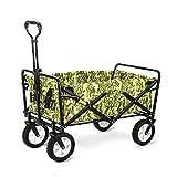 Carretilla Plegable para Camping, Carrito/carro plegable con Toldo de Protección UV, 80kg Capacidad de Carga y Espacio Grande, Camuflaje