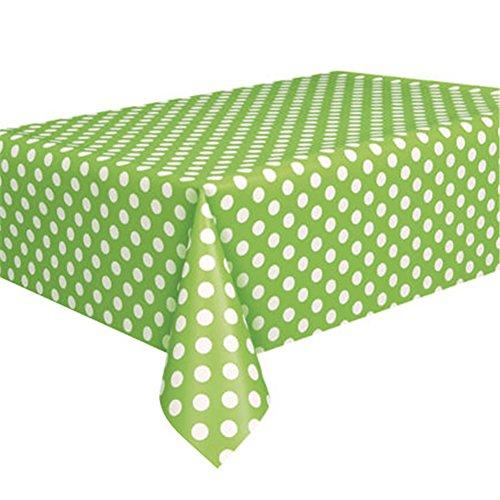 Sukisuki Party Plastique Nappe Pois jetables Housse de table, 2,7 x 1,4 m, Plastique, Green, Taille unique
