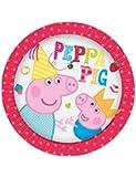 8 piatti di carta Peppa Pig and George per feste a tema