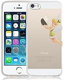 iPhone 5 Hülle, JAMMYLIZARD Transparentes Sketch Back Cover aus Silikon für iPhone 5 / 5s und iPhone SE, TinkerBell