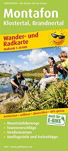 Montafon, Klostertal, Brandnertal: Wander- und Radkarte mit Ausflugszielen & Freizeittipps, wetterfest, reißfest, abwischbar, GPS-genau. 1:35000 (Wander- und Radkarte / WuRK)