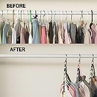 HJHY Metall Kleiderbügel Kleidung Veranstalter Garderobe Raum Speichern und Organisation (6 Packs)