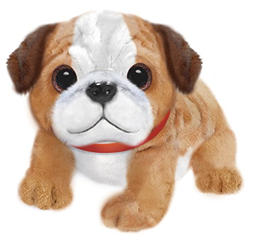 Erste & Main 37947Tan & Weiß wuffles Bulldog Puppy Dog Basic Plüsch Spielzeug