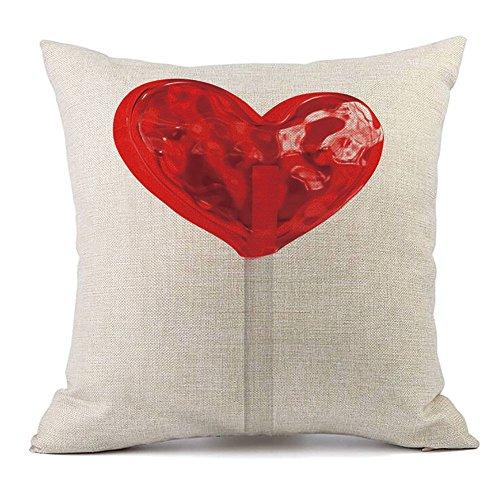 Sammoson ti amo modello stampato happy valentine federe per cuscini cuscino per divano in lino home decor pillow case 23g