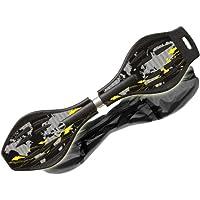 MAXOFIT  Pro XL - Waveboard con luces en las ruedas y funda (hasta 95 kg, 88 x 23 x 30 cm), multicolor Ben