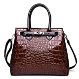 Tisdaini Donna Borse a mano moda PU pelle grandi di marca Borse a spalla vintage Borse a tracolla Borse Tote