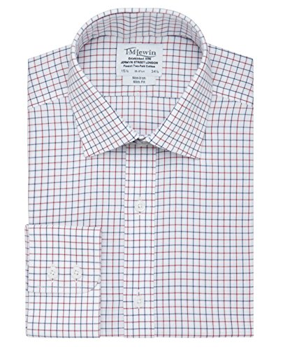 tmlewin-mens-non-iron-check-slim-fit-button-cuff-shirt-navy-red-16