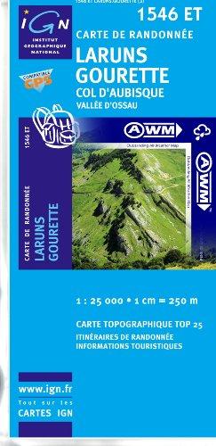 TOP25 1546ET ~ Laruns, Gourette, Col d'Aubisque carte de randonnée imperméable