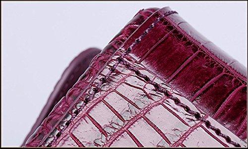 lpkone-Sac à main motif peau de crocodile en bandoulière sac épaule Sac chaîne haute fashion ladies Red
