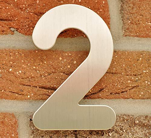 "nanook Hausnummer ""Arco"" – Edelstahl gebürstet – 15 cm – Nr. 2 - 2"