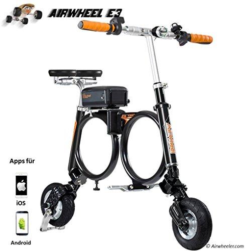 Airwheel Patinete eléctrico Plegable para Hombre E3, Talla M, Hombre, E3, Negro, Medium