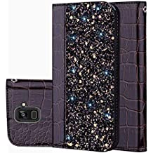 """für Smartphone Samsung Galaxy A8 (2018) Hülle, Leder Tasche für Samsung Galaxy A8 (2018) (5.6"""" Zoll) Flip Cover Handyhülle Bookstyle mit Magnet Kartenfächer Standfunktion"""