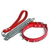Haustiergeschirr, Hundeleine Hundekette Hundeleine, Haustierkissen Stretchlaufleine Länge 140cm (Farbe : Red, größe : Neck 27-33cm)