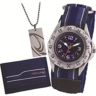 Kahuna AKKS-0001M – Reloj, Correa de Tela Color Azul