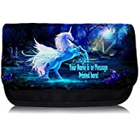 Personalised Fantasy Unicorn St709 School Pencil Case / Make-up Bag / Games Console DS Carrier
