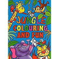 WF Graham 12 x Mini Jungle Colouring Activity Books Boys Girls A6 Party Bag Fillers