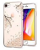 Spigen (042CS21220 [Liquid Crystal] Fleur Rose Premium Semi-Transparent [Shine Blossom] Soft Coque pour iPhone 7/8