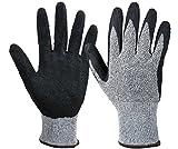 DingSheng Schnittfeste Handschuhe, Arbeitshandschuhe Level 5, Handschutz-Handschuhe für Damen und Herren – Handschuhe für Küche, Garten, Tischler, Bau, Mechanik, Auto, Industrie