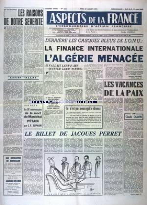 ASPECTS DE LA FRANCE [No 620] du 28/07/1960