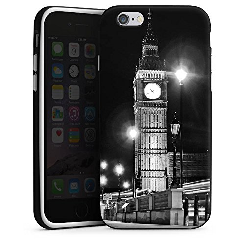 Apple iPhone 5s Housse étui coque protection Big Ben Londres Angleterre Housse en silicone noir / blanc