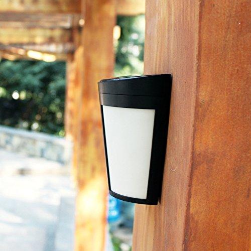 Power Wandleuchte, Outdoor Solar super helle Wasserbeständigkeit IP65 Sensor Licht für Haustür Patio Deck Yard Gartenzaun Home Landschaft mit 6 LED Perlen -