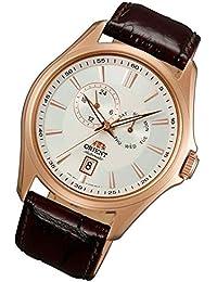 Orient Reloj de Multi Eye automático Rosé Día Fecha Señor Reloj de pulsera banda de piel fet0r003W0