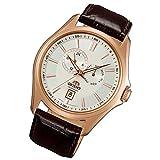 Orient orologio multi-Eye automatico giorno DATA signor Orologio da polso cinturino in pelle rosé fet0r003W0