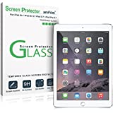 iPad Air Screen Protector Glass, amFilm® Ultra Clear Glass Screen Protector for Apple iPad Air 2, iPad Air, iPad 5 and iPad 6 (Invisible) (1-Pack) [in Retail Packaging]
